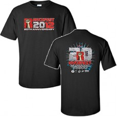 98.9 The Rock 2012 RockFest Men's Short-sleeved T (Black)
