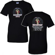 98.9 The Rock 2013 RockFest Women's Short-sleeved T (Black)