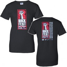 98.9 The Rock 2014 RockFest Women's Short-sleeved T (Black)