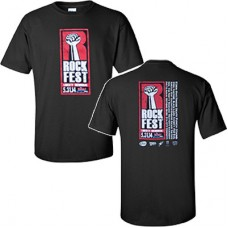 98.9 The Rock 2014 RockFest Men's Short-sleeved T (Black)