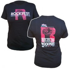 98.9 The Rock 2016 RockFest Women's Short-sleeved T (Black)