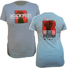 98.9 The Rock 2016 RockFest Women's Short-sleeved T (Grey)