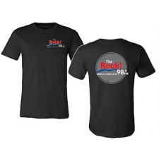 98.9 The Rock Bella Canvas Short-sleeved T (Black)