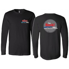 98.9 The Rock Bella Canvas Long-sleeved T (Black)
