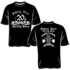 98.9 The Rock Johnny Dare 20th Anniversary Short-sleeved T (Black)